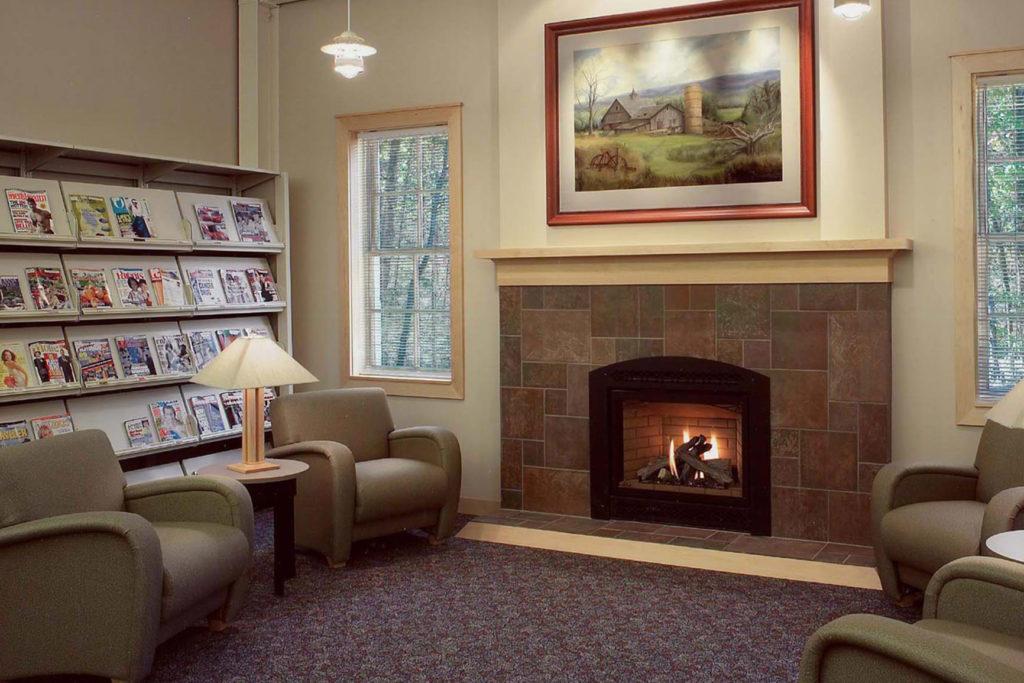 ASCPL Richfield Library Fireplace