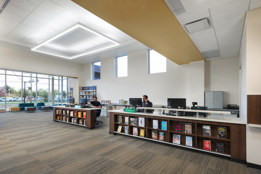 Heights Library Circulation Desk